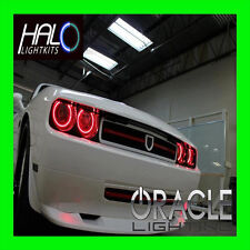 2008-2014 DODGE CHALLENGER RED LED HALO HEADLIGHT LIGHT KIT by ORACLE LIGHTING