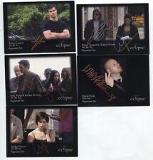 "Twilight Eclipse ""On the Set"" Signature Card Set (# 6 thru10 )"