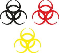 4x Biohazard Aufkleber Bio Gefahr Sticker Auto Beschriftung Schriftzug ab 5x5cm