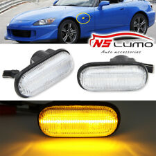 Front LED Side Marker Lights For Honda S2000 Accord Civic Prelude CRX Fit Clear