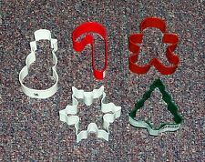 Holiday,Christmas Cookie Cutter Specialty Set,OTBP,Multi-Color, Metal 5 Pc.Set