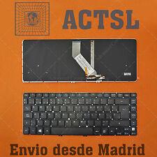 Keyboard Spanish for Acer Aspire MS2360 Backlit Retroiluminado