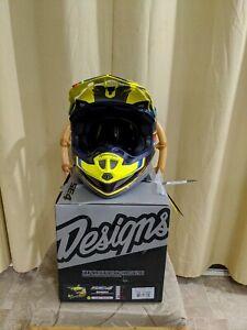 Troy Lee SE4 Composite Speed Helmet Yellow/Gray Size XL 60-61 CM DOT MIPS