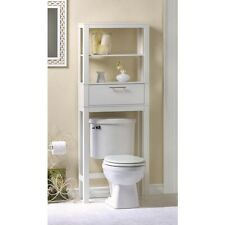 Bathroom Storage Over The Toilet Vogue White Cabinet Organizer Shelf - New
