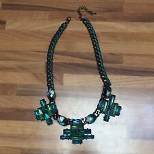 Stock Collane Artigianato Resina Strass Necklace