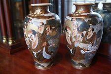 2 japanische Satsuma Vase, CHOSHUZAN, japanese Satsuma Pottery, Meiji period