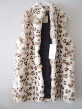 Chaleco piel conejo, estampado leopardo, Suiteblanco talla M
