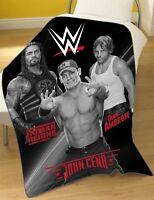 WWE 'Stars' Panel Fleece Blanket Throw Brand New Gift ROMAN REIGNS DEAN AMBROSE