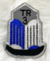 Vintage 60s TRIUMPH TR3 Embroidered Sew On Patch British Auto Car Club RARE