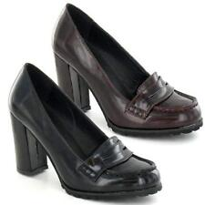 Ladies High Heels Court Shoes Womens Smart Office Loafers Block Heels Boots Size