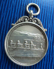 Vintage Silver Fob Medal - Rowing / Sculling h/m 1925 William James Dingley