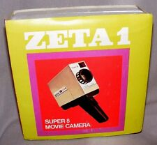 VINTAGE ZETA1 SUPER 8 MOVIE CAMERA MUPI MADE IN ITALY IMMACULATE IN BOX