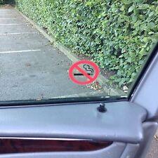 24 Clair No Smoking Stickers vue des deux côtés sur verre signe Autocollant 46 mm