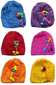 Bella Baby Stretchy Knitted Bonnet Baby Girl Hat with Ornement U16250-6412