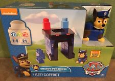 Nickelodeon Paw Patrol Chase's Pup House Building Block Set by SPIN Master NEW