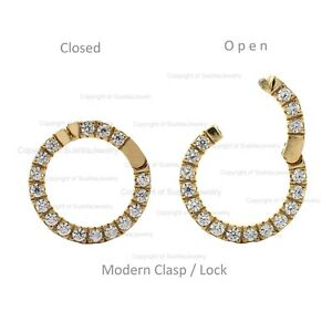 Openable Modern Clasp Charm Solid 14K Yellow Gold Natural SI G-H Diamond Charm