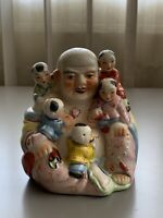 Vintage Buddha Statue Decoration With Children Lucky Fertility