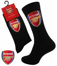 2 Pairs Mens Black Arsenal FC Official Football Club Dress Socks UK Size 6-11