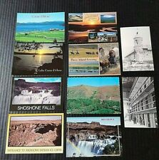 Idaho Postcards Vintage Lot Oregon Trail Shoshone Falls Ice Caves Coeur d'Alene