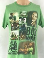 VINTAGE GREEN ZION 90's MULTI-PIC GRAPHIC  BOB MARLEY T SHIRT SIZE MEDIUM