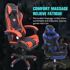 Gaming Chair Racing Ergonomic Recliner Massage Office Computer Swivel Footrest