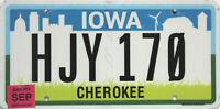 Iowa  License Plate,  Original Kennzeichen USA  HJY 170  ORIGINALBILD