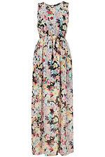 Topshop Floral Print Mesh Lace Maxi Dress Body con Tunic UK 8 EURO 36 US 4 BNWT