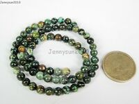 Natural Gemstones 5.5mm ~ 6mm ~ 6.5mm Round Loose Beads 15'' ~ 16'' Pick Stone