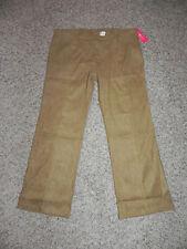 Bb Belly Basics Maternity Pants XL Faux Suede Tan Camel Adjustable Waist NWT$110