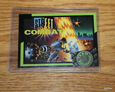 Rare & Collectible 1993 TEAM BLOCKBUSTER #32 Street Combat Game Card - Near Mint