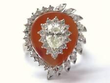 Fine Pear Shape Diamond Designer Jewelry Ring White Gold 1.03CT
