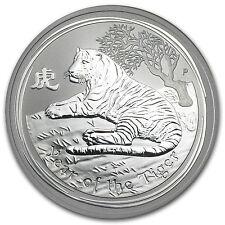 2010 1 oz Silver Australian Perth Mint Lunar Year of the Tiger Coin - SKU #54872