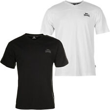 Lonsdale London 2 Stripe Logo Löwe V Neck T-Shirt  S M L XL 2XL 3XL Tee Neu