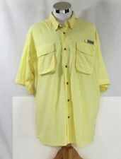 Bimini Bay Fishing/Hiking Vented Short Sleeve Yellow Shirt Men's Size (XXL)