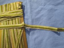 Ruban ancien soie dégradée de vert olive bordé de fils métalliques 2,5 m  x 1 cm