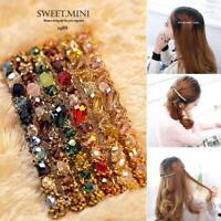 Fashion Korean Rhinestone Hair Accessories Crystal Hairpin Hair Clip Barrette