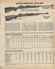 1979 WINCHESTER Model 70 XTR Magnum, 70A XTR African .458 RIFLE AD