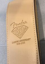 """FENDER 2.5"""" WIDE Light Brown 60th Ann GUITAR STRAP PU LEATHER (new)"""