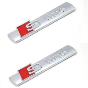 Emblema S-Line para Audi, Metalico , Insignia, Audi Sline, Emblemas, S Line