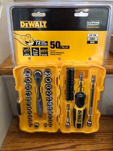 DeWALT 50 Piece Mechanics Tool Set Kit DWMT81610 Chrome New Sealed 50 pcs