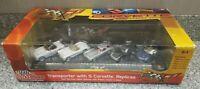 *New* Racing Champion Transporter w 5 Corvette Replicas 1:64 Die Cast ERTL 2002
