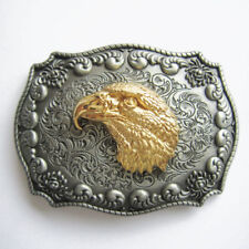 Eagle Head Double Color Western Cowboy Rodeo Metal Belt Buckle