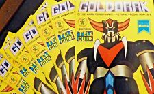 """STICKERS AUTO COLLANT VINTAGE """"GOLDORAK"""" PRODUCTION 1978 EDITIONS TÉLÉ GUIDE"""