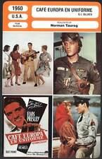 FICHE CINEMA : CAFE EUROPA EN UNIFORME - Elvis Presley 1960 - G.I.Blues