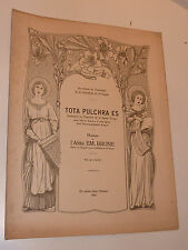 1904 brune TOTA PULCHRA ES ancien PARTITION ST CLAUDE sheet music orgue ORGAN