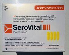 NEW SeroVital Dietary Supplement 160 Capsules 40 Day Premium Pack Exp: 09/2023