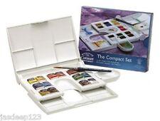 Winsor and Newton Cotman Watercolour Compact Set Palette Box 14 Half Pans