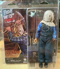 """Jason Voorhees 8"""" Friday the 13th Part 2 Retro Clothed Action figure Neca RARE"""