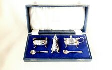 More details for cased three piece cruet set by elkington & co - birmingham, 1965