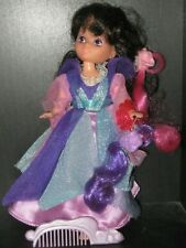 LADY LOVELY LOCKS DOLL RAVEN WAVES w/ 2 Pixies, Pixie Petal & Comb MATTEL TCFC